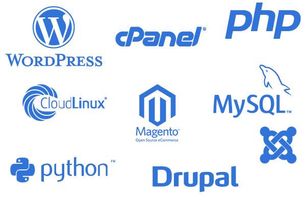 Népszerű honlapmotor logók